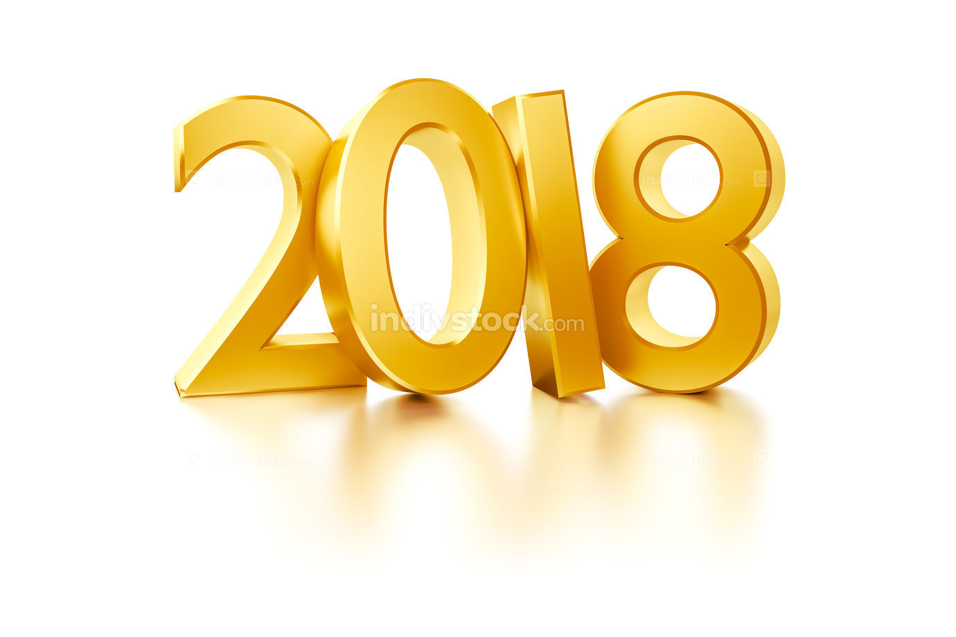 the golden number 2018 for new year holidays