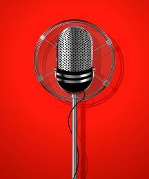 Classic radio microphone