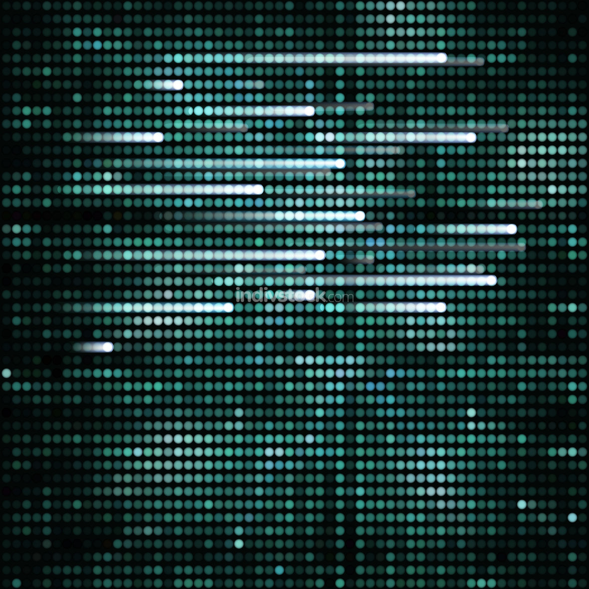 Abstract turquoise techno background, vector.