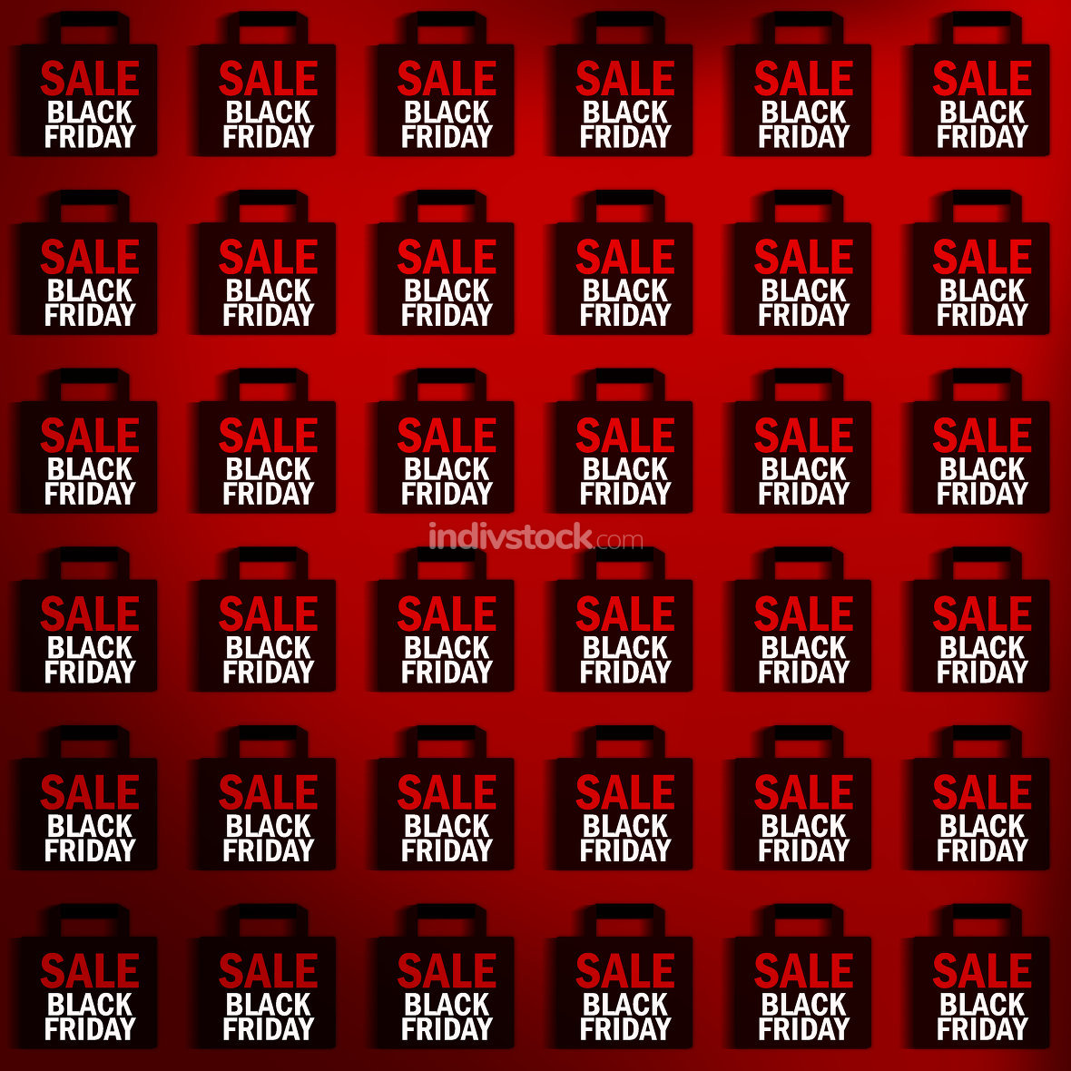 black friday sales background red