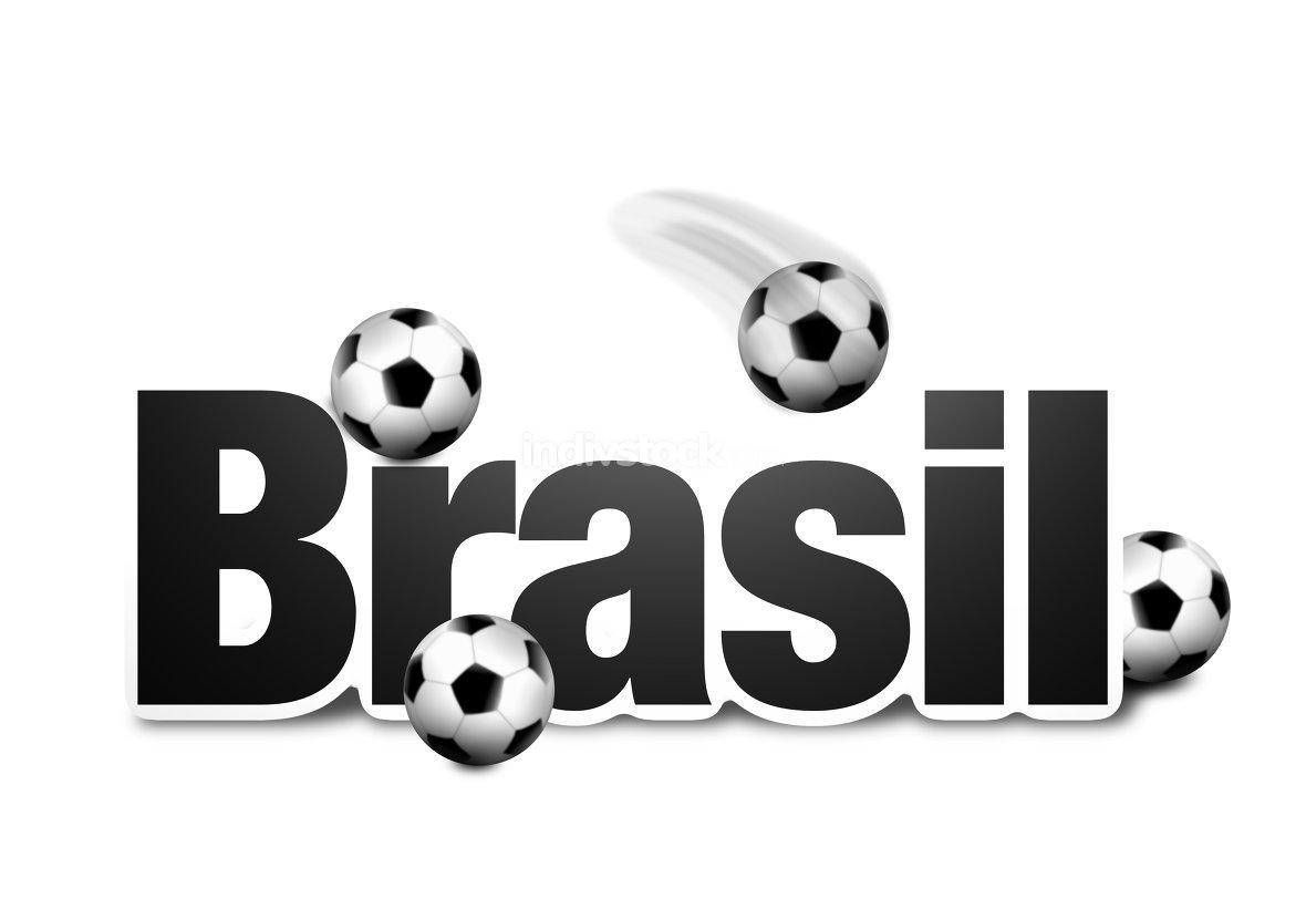 Brasil Text modern look and balls