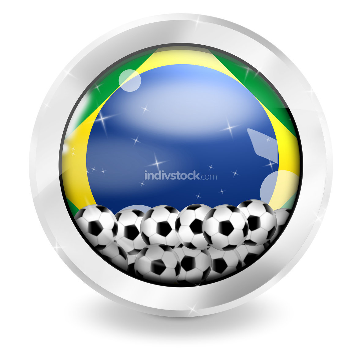brazil brasil football icon
