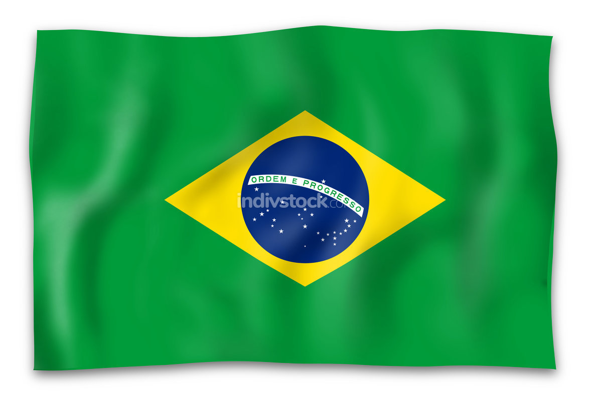 brazil flag isolated