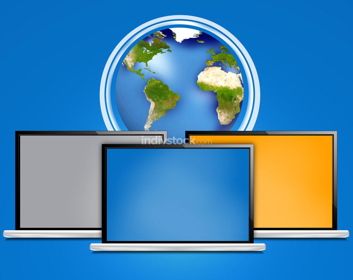 computer laptop earth global internet