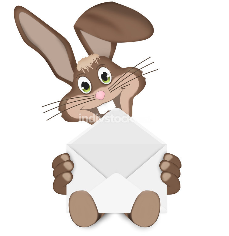 Easter Bunny With Letter