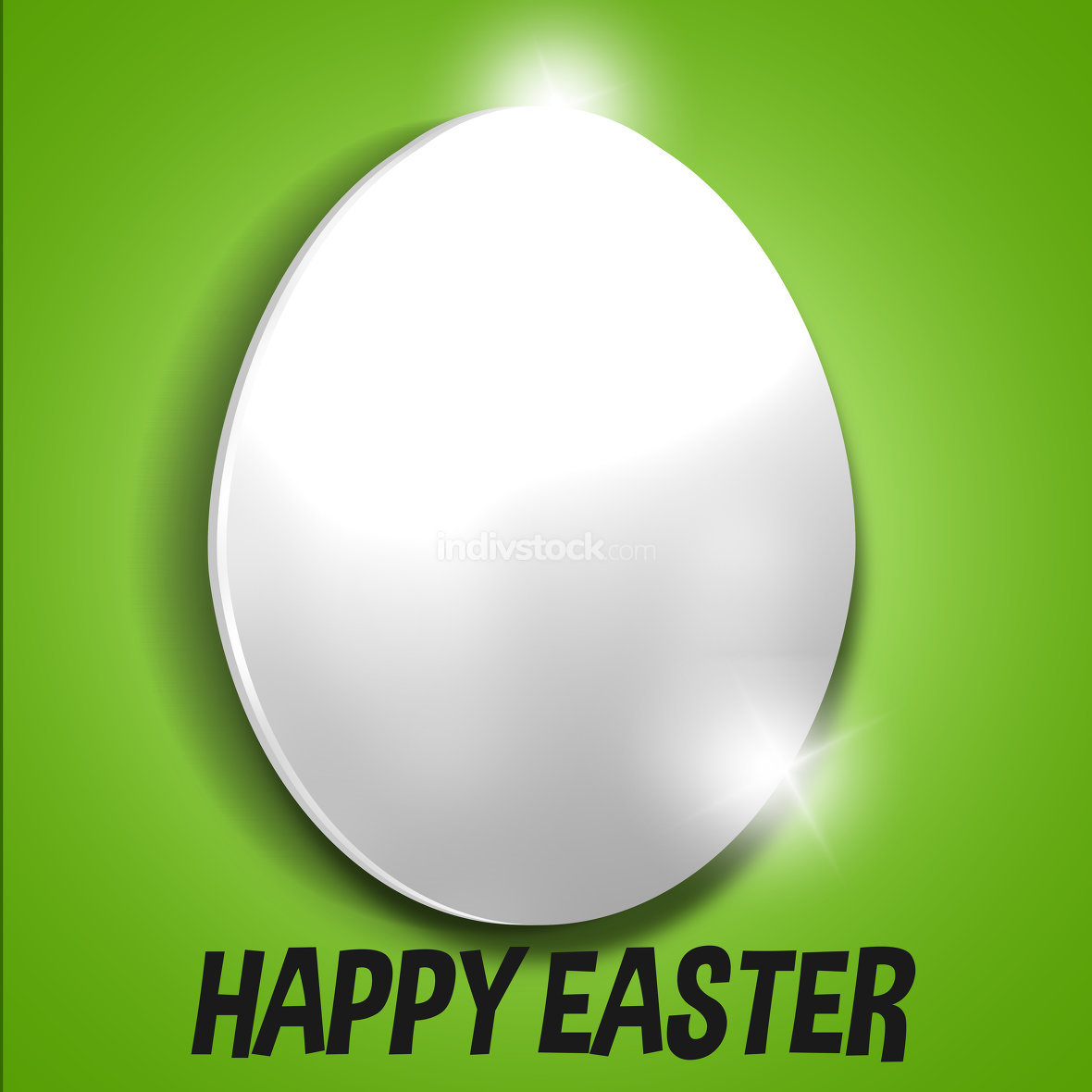 happy easter green backgorund