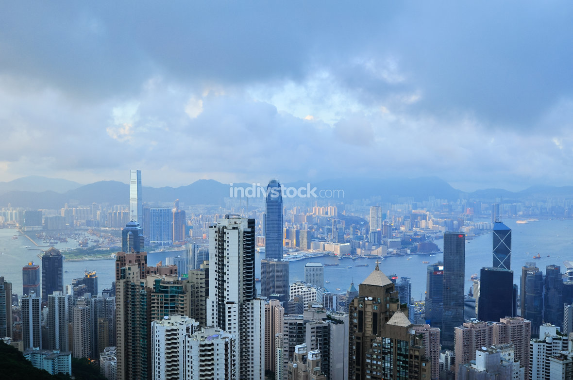 Hong Kong Island from Victoria Peak Park