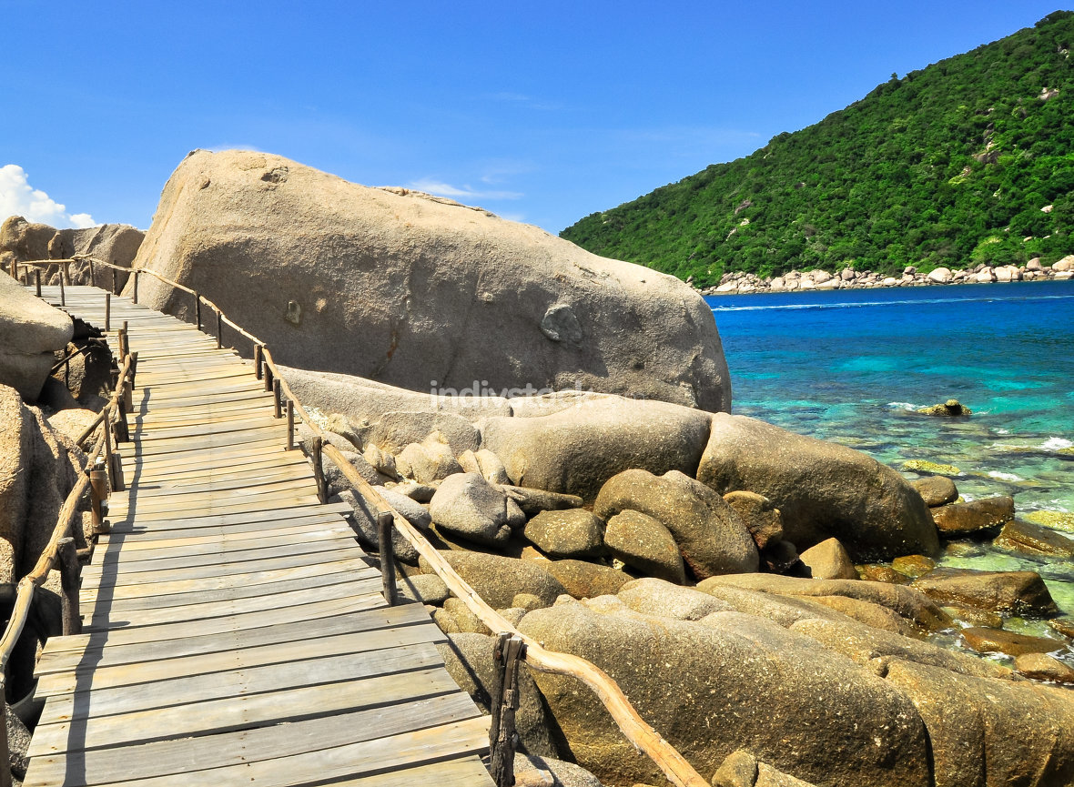 Koh Tao - a paradise Boardwalk in Thailand.
