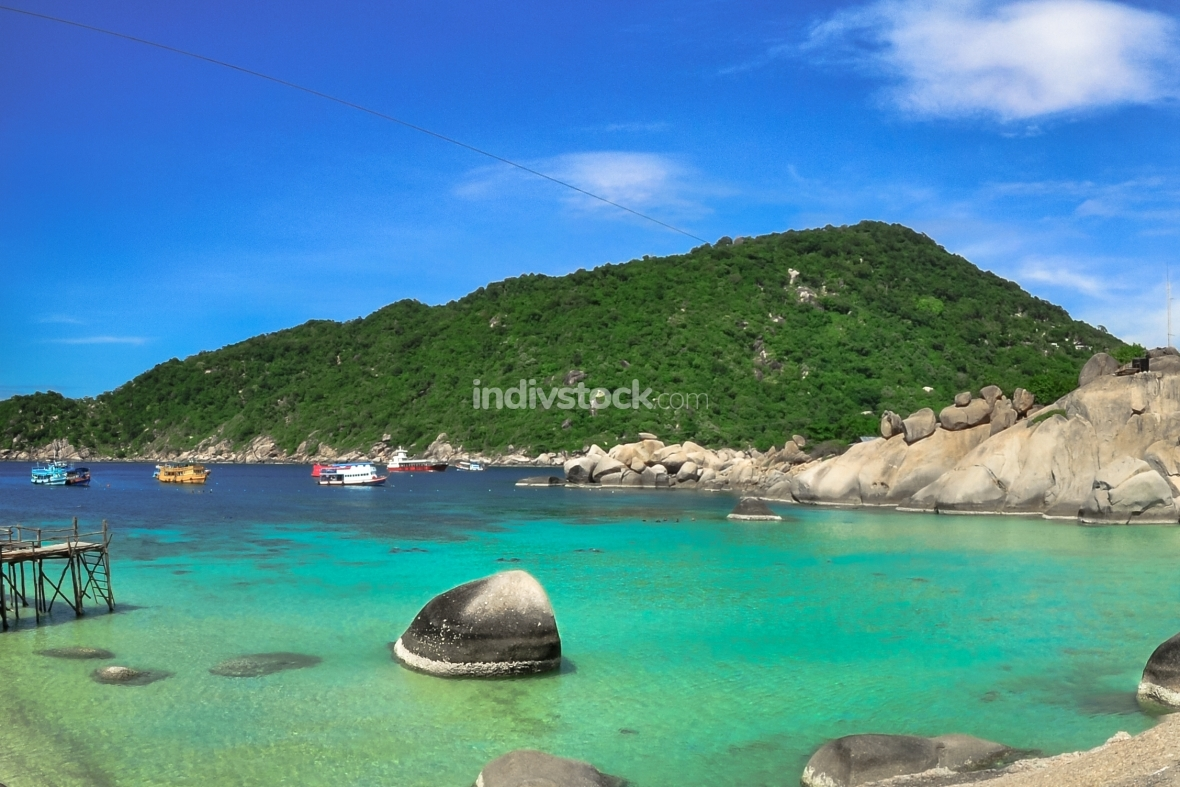 Koh Tao Panorama - a paradise island in Thailand.