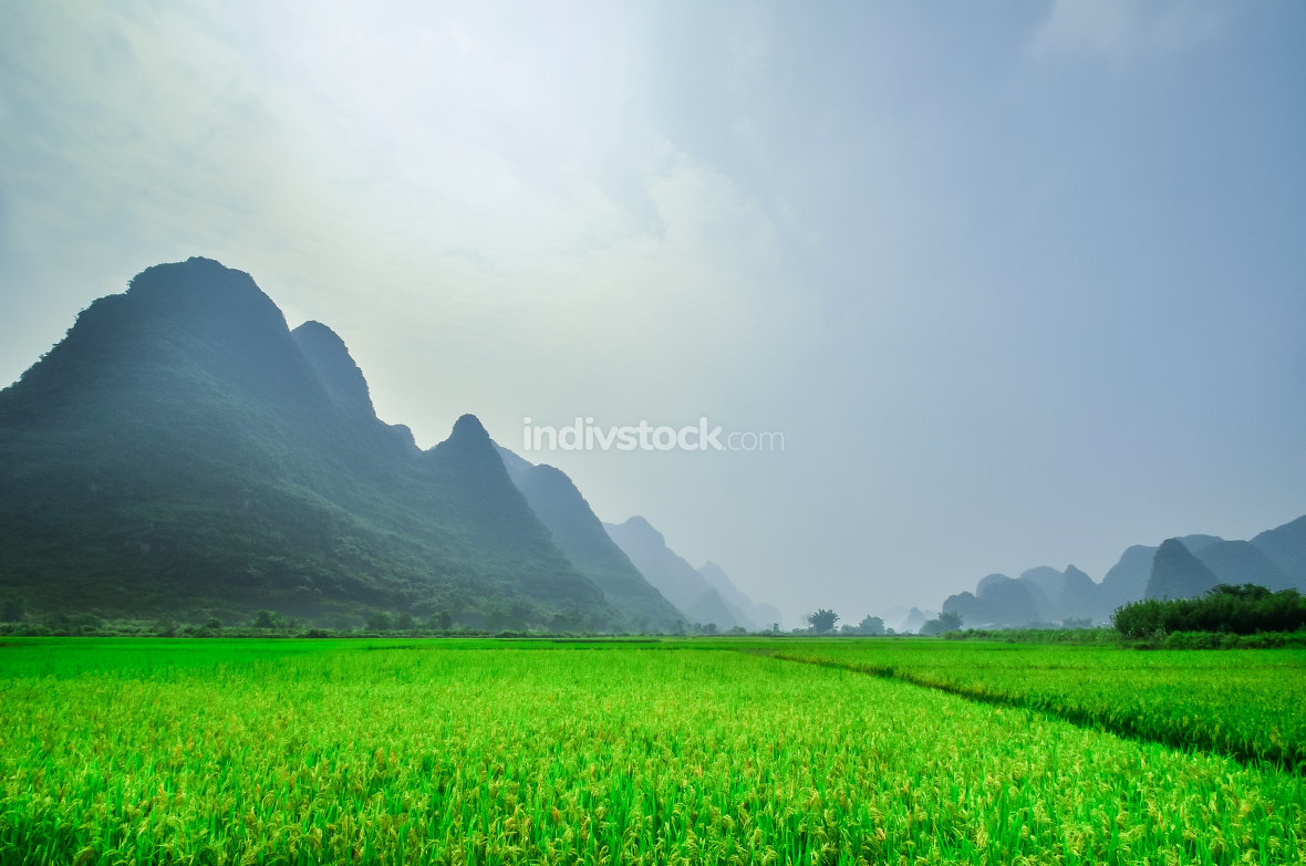 Li landscape in Yangshuo Guilin