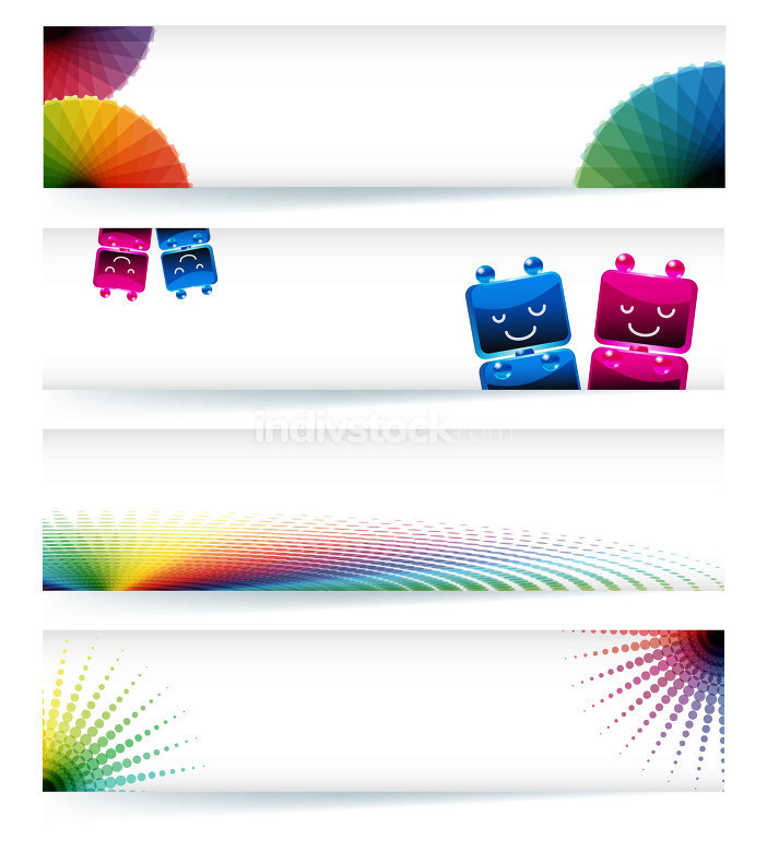 Multicolor gamut banner design