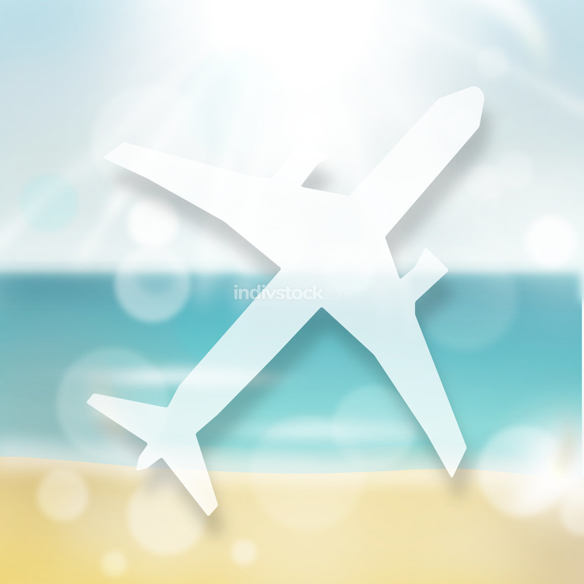 Plane and Beach