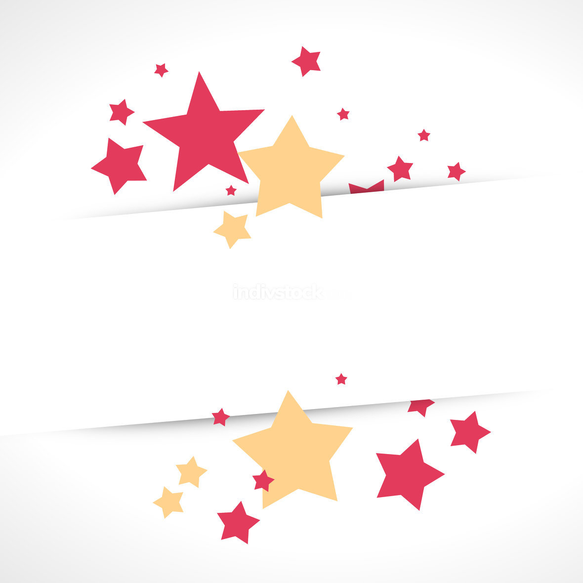 Stars White Background