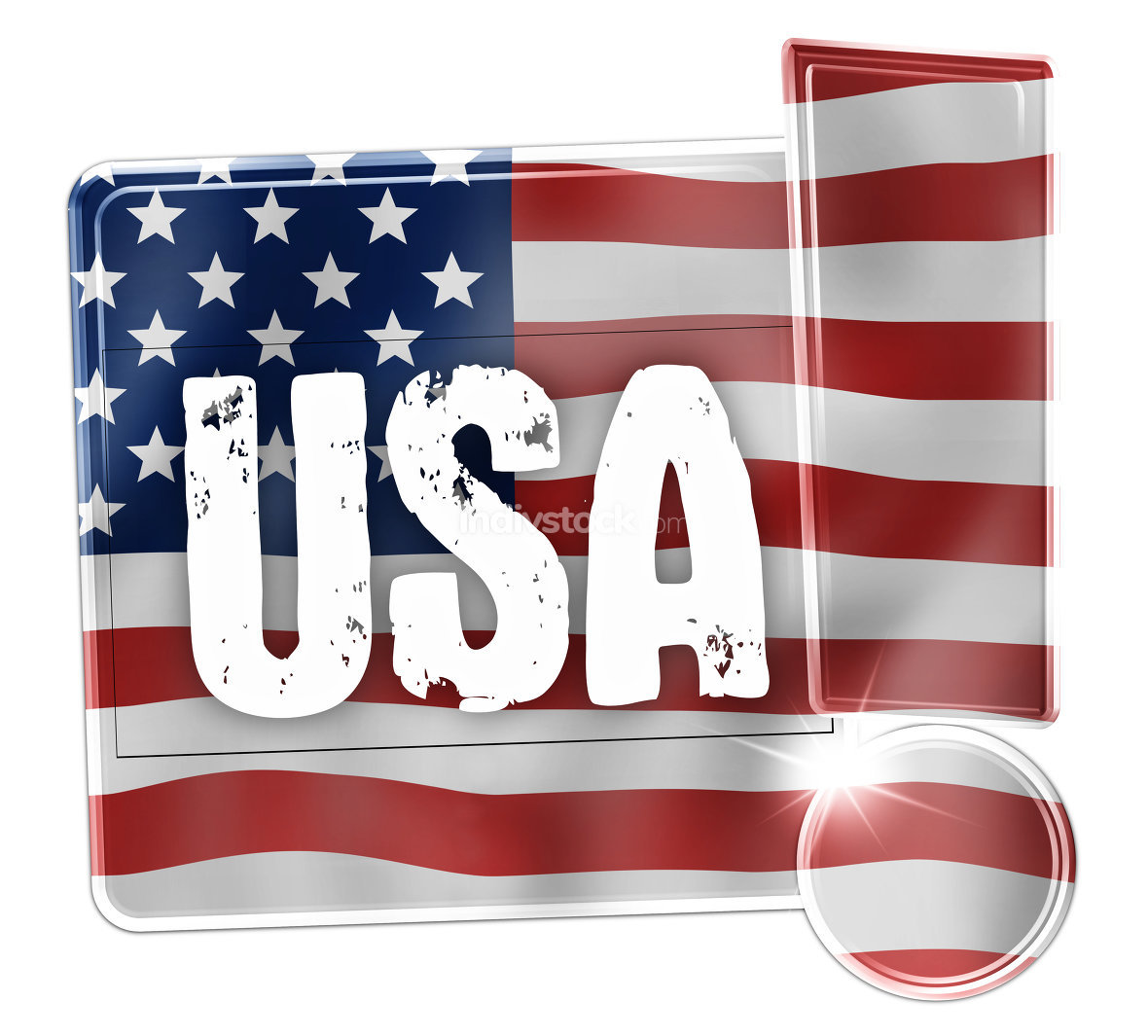USA Creative Flag Concept