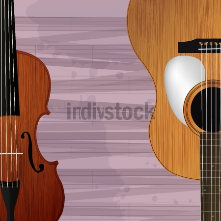 Guitar and violin icon