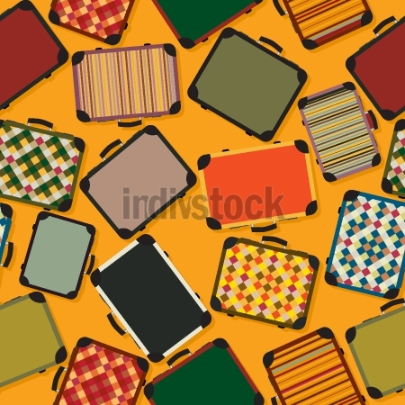Luggage seamless pattern background