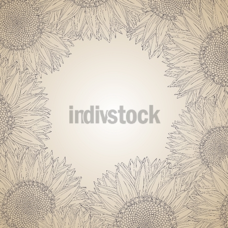 Sunflower frame design