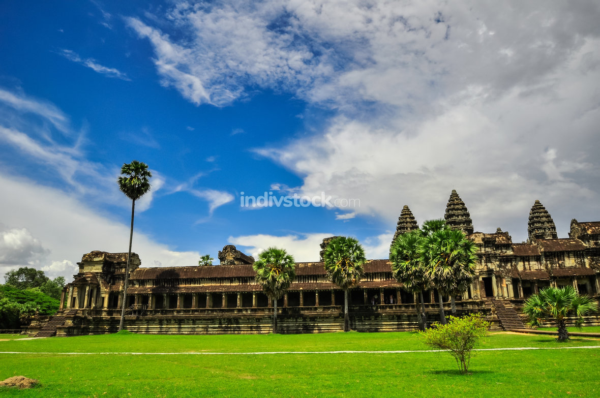 Bayon Temple and Angkor Wat Khmer complex in Siem Reap, Cambodia