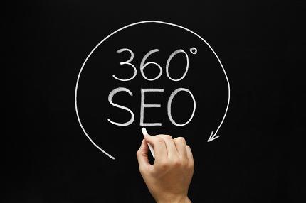 360 Degrees SEO Concept