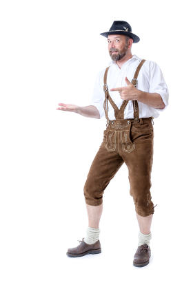 Bavarian tradition presenting