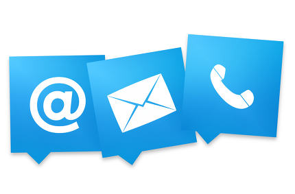 blue contact us icons fresh design