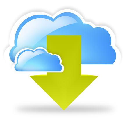 free download: cloud blue green download arrow