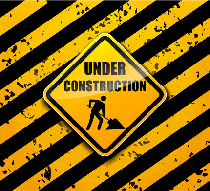 under construction sign background concept