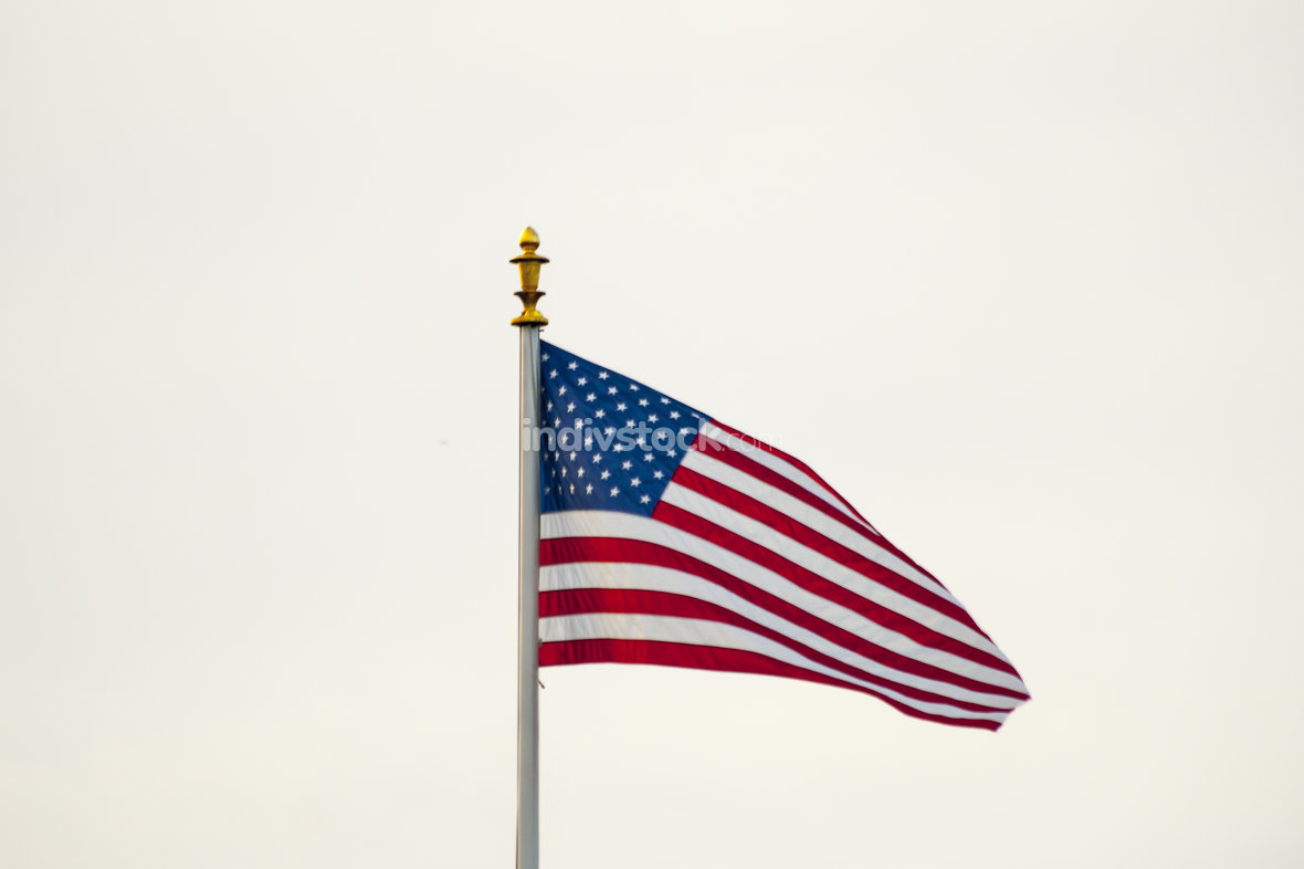 American Flag in Flanders field Belgium Waregem