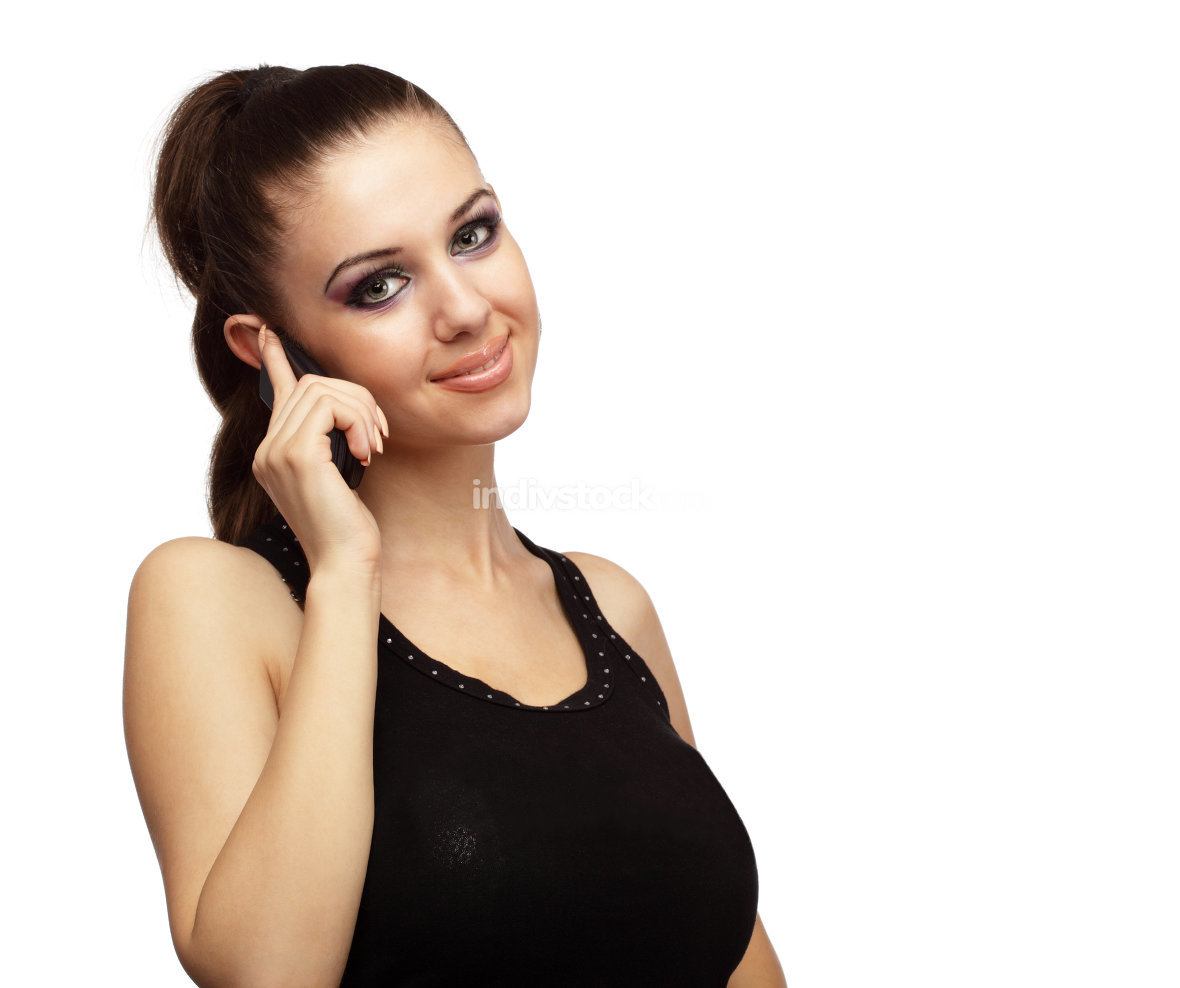 Attractive girl talking on a phone