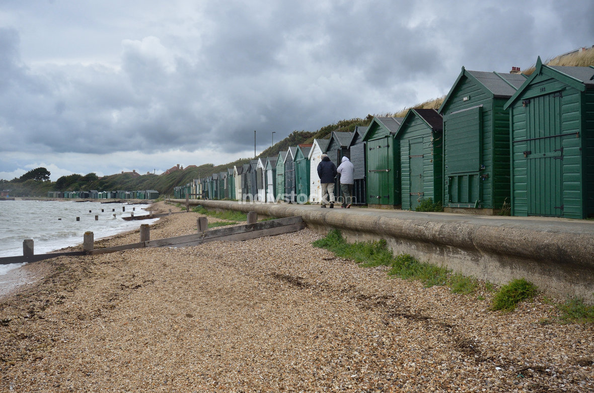 Beach huts in South England