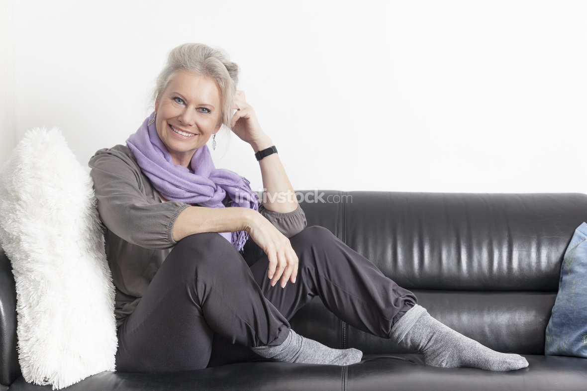 best age woman relaxing