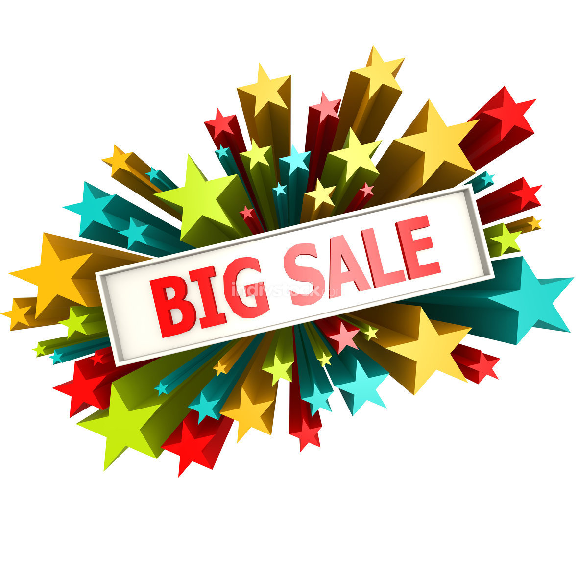 Big sale star banner
