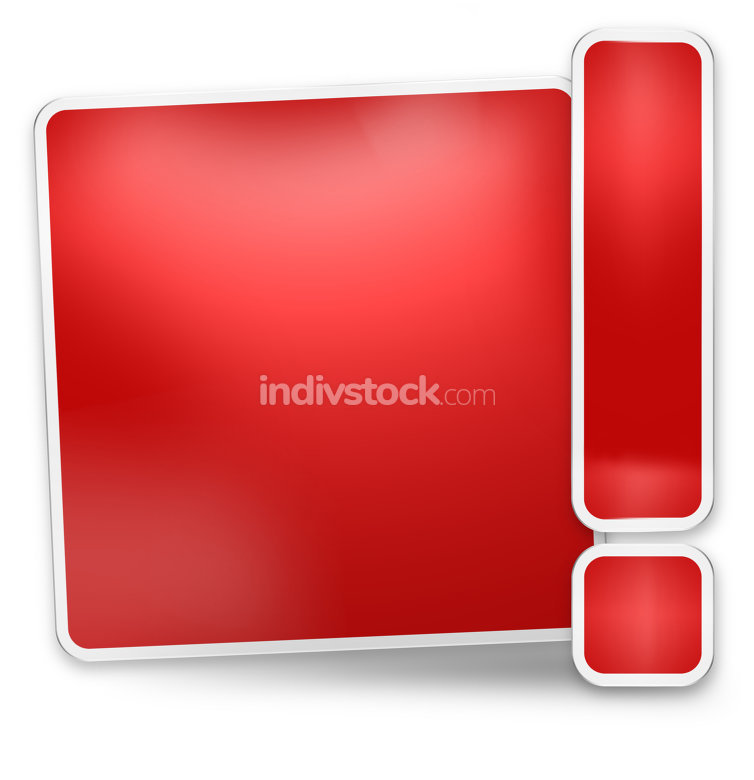 blank modern icon red