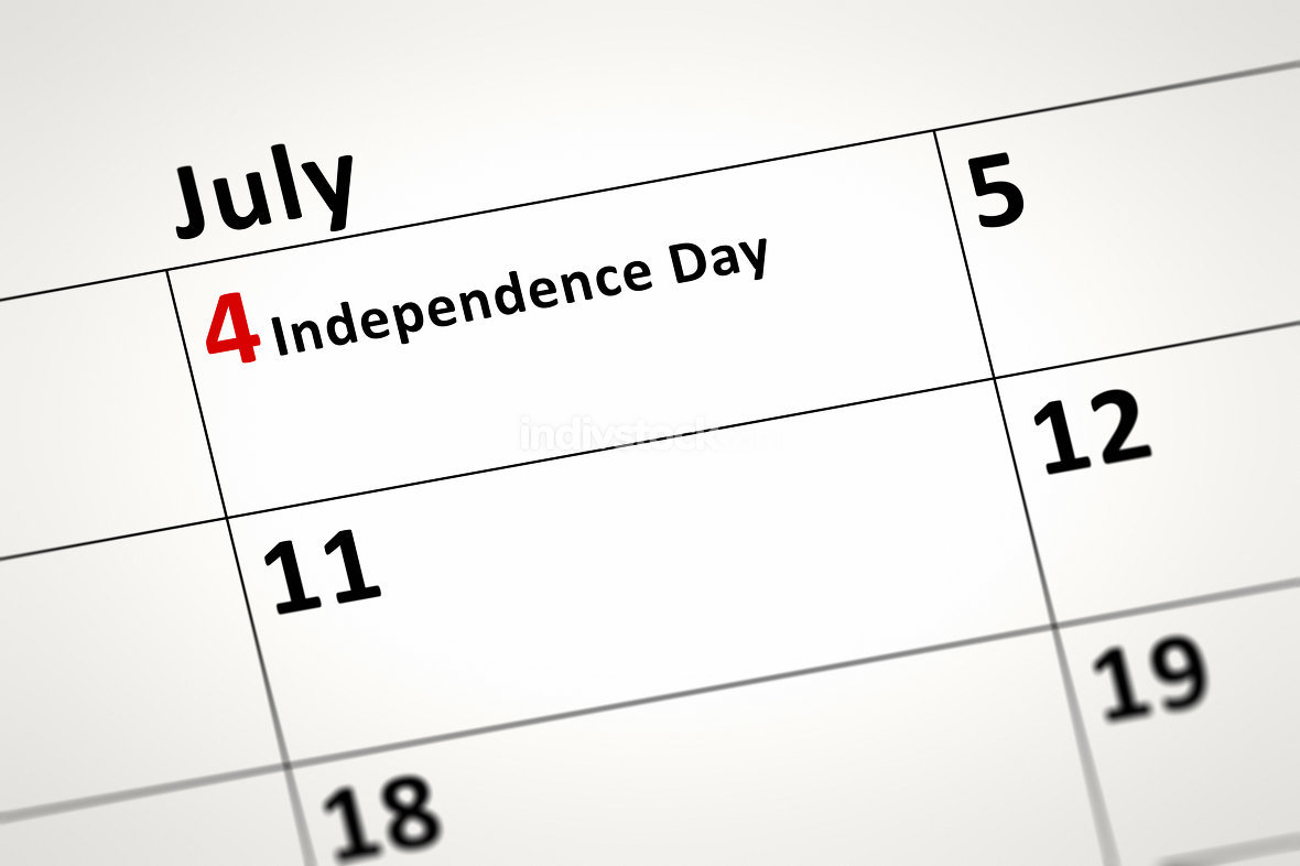 calendar detail Independence Day