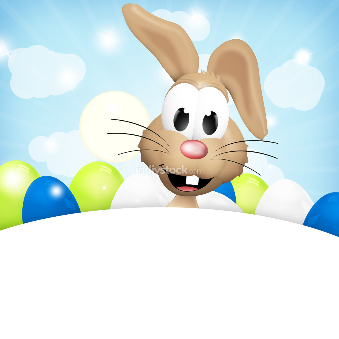 easter bunny light sky blue white bright