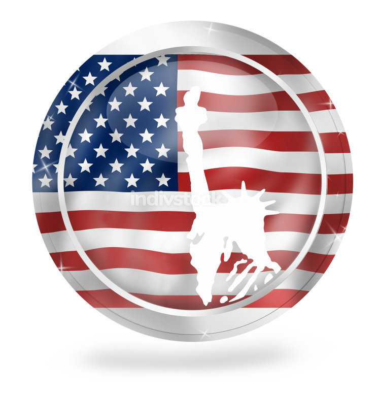 free download: usa freedom icon symbol button