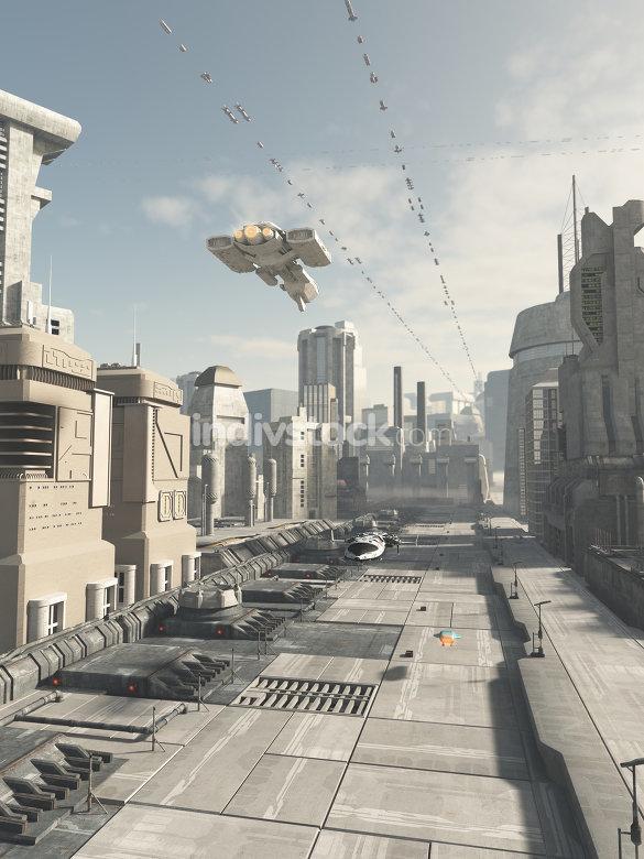 Future City Street 2614
