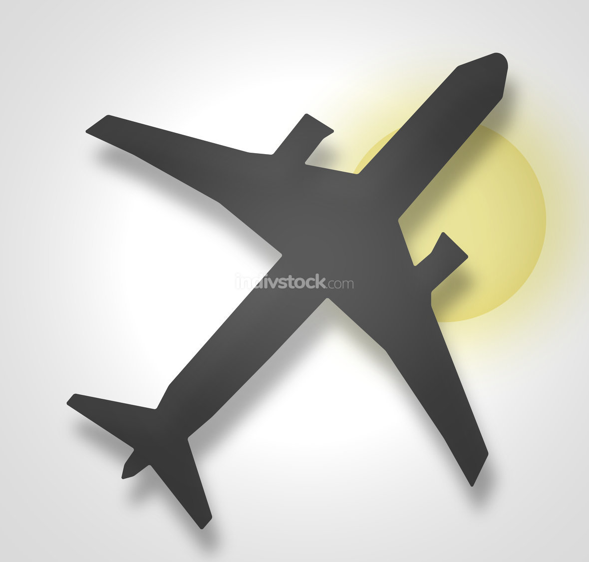 plane black grey background sun abstract