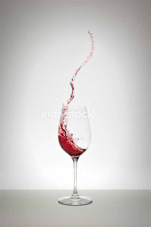 red wine splash