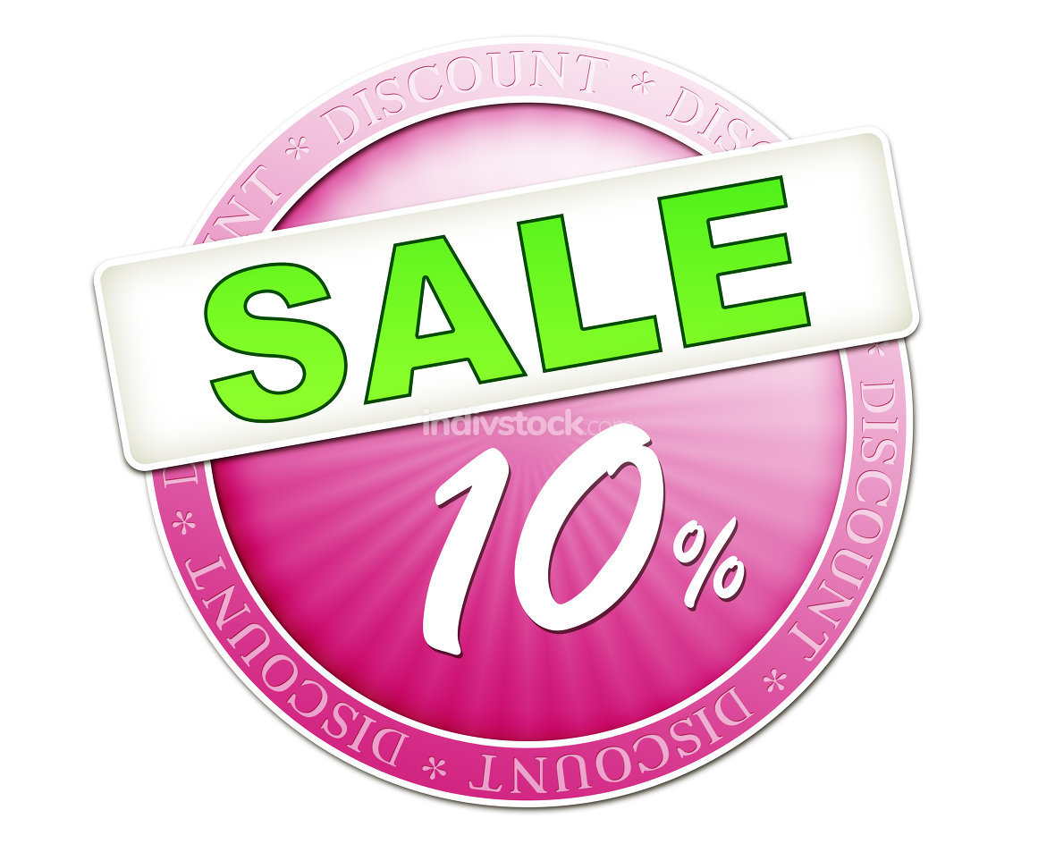 sale button 10%