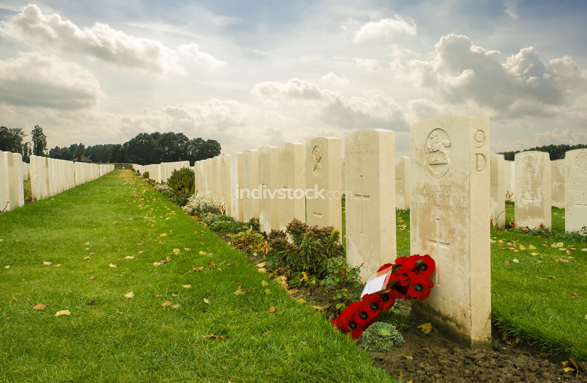 Tyne cot cemetery first world war flanders Belgium