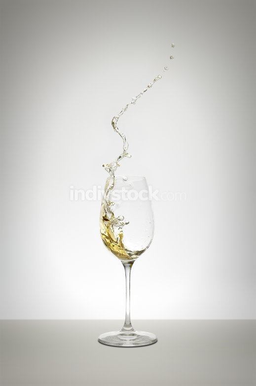 white wine splash