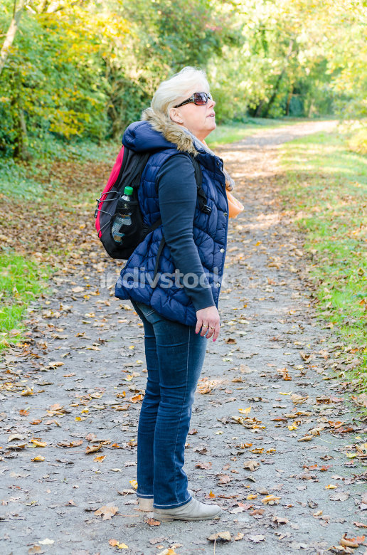 Woman, walking, hiking
