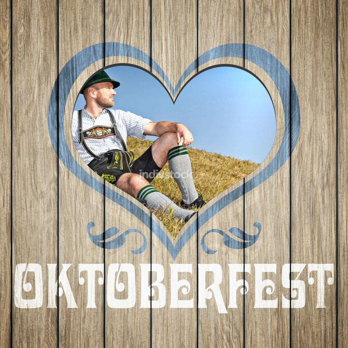 wooden heart Oktoberfest