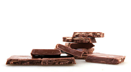 Chocolate, Isolated,