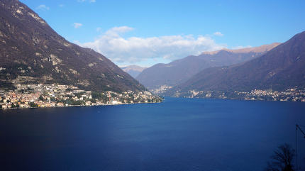 Lake Como and Menaggio town on shore.