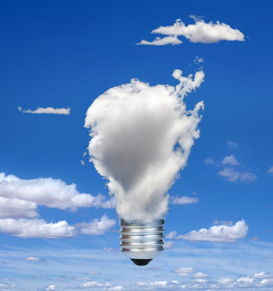 Lamp made of clouds