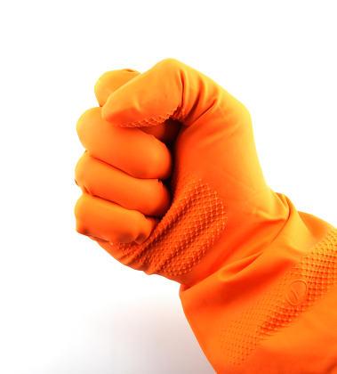 Orange glove