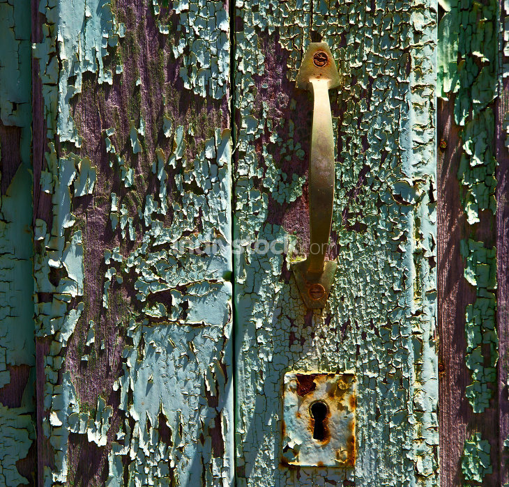 abstract  spain canarias brass brown knocker i