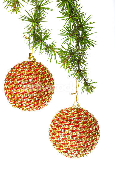 decorative golden yellow round ball ornaments with pine  for Chr